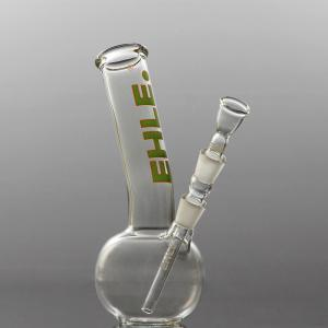 spherical bong, bent, joint 14,5, green-orange