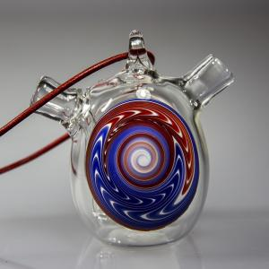 one hit bubbler section, blue & red